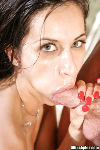 Close up fuck in doggy style featuring a sexy brunette Monica Breeze