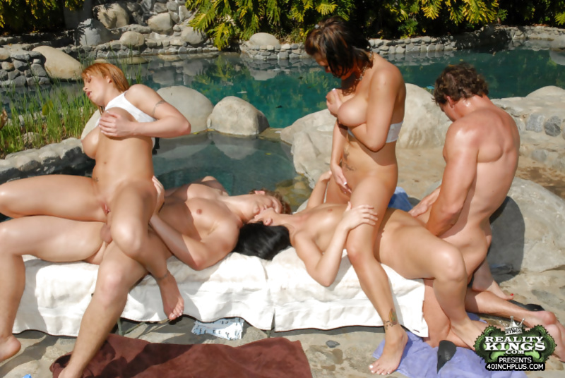 Wild orgy with a tattooed pornstar Luscious Lopez and her friends