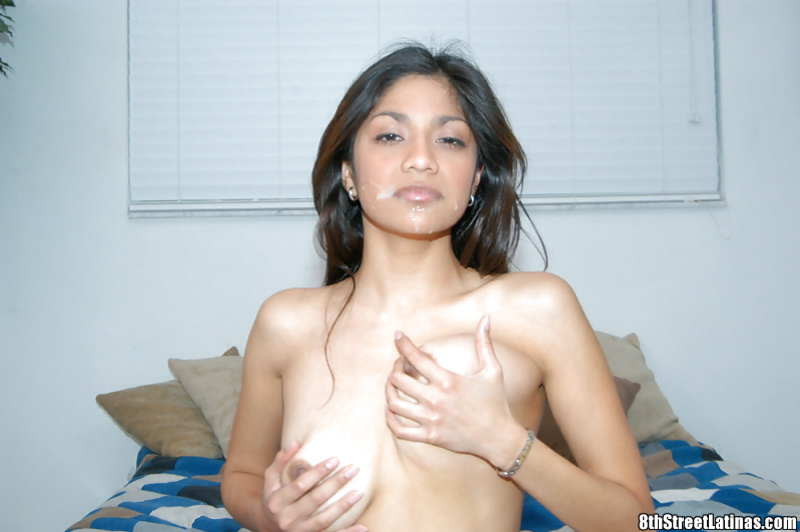 Naughty Latina has her amateur pussy fucked hardcore in close up