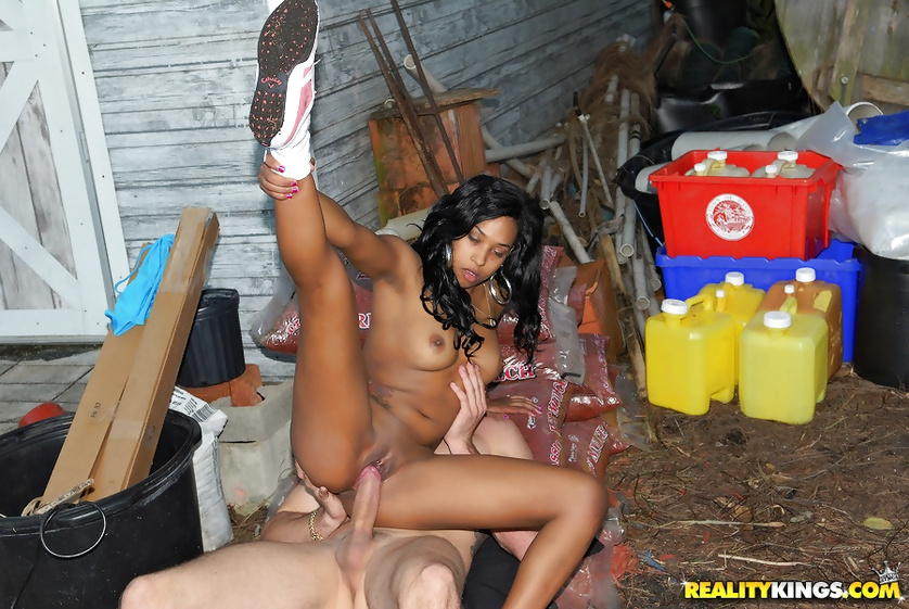 Wild girl is enjoying hardcore sex in the street