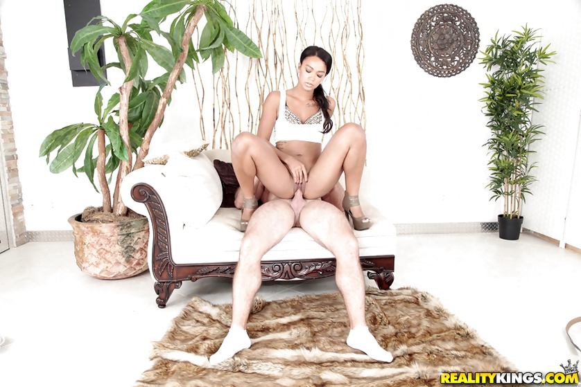 Fucking two chocolate women with strong white cock