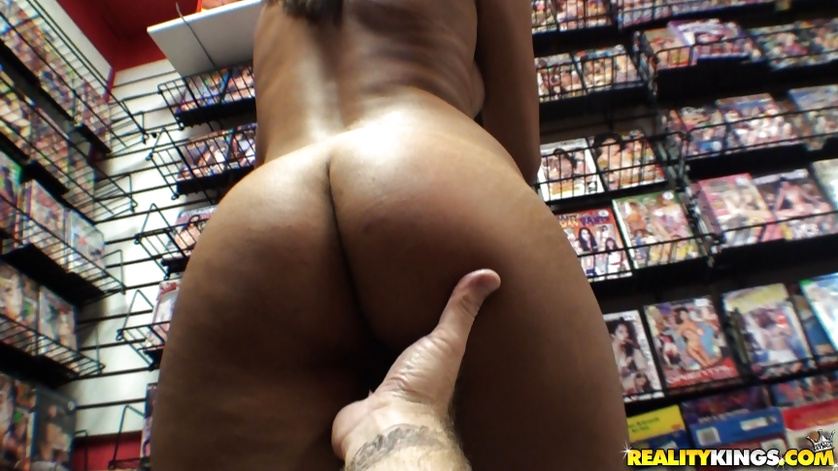 Sexy young girl is getting fucked in the shop