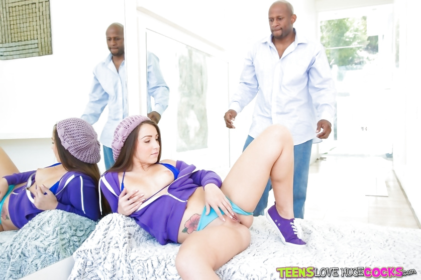 Sexy girl in purple is getting drilled really hard
