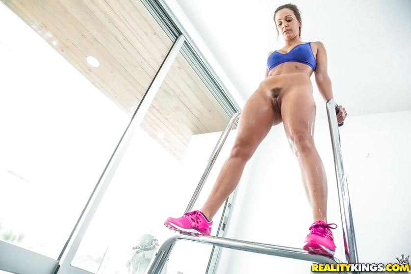 Sport sluts with natural tits are looking hot wearing colorful uniform