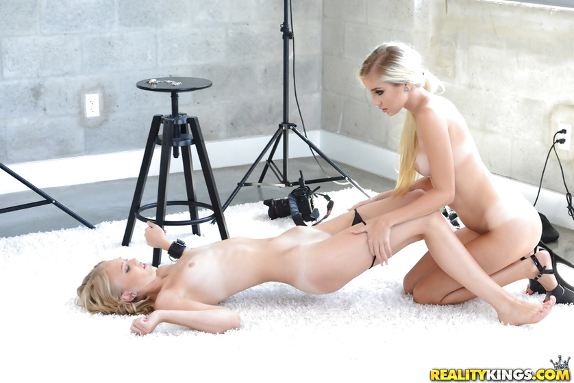 Sexy blonde is enjoying sex with elegant photographer