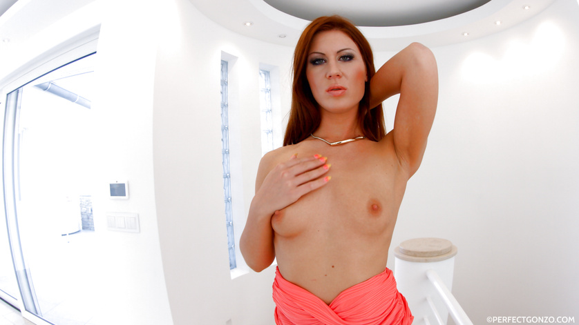 Making it crystal-clear -- the hottest redhead on the planet gets fucked
