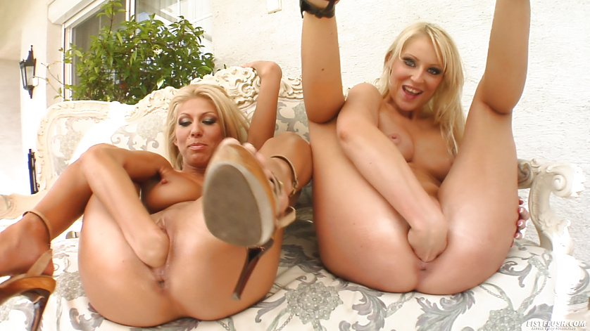 Lovely women are pleasing each other in hardcore manner