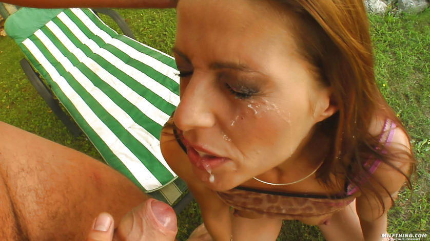 Picturesque garden is a great place for fucking wild MILF