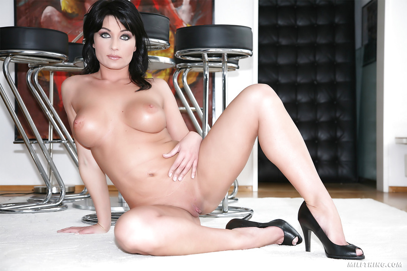 This sweet MILF loves fucking hard with two big men