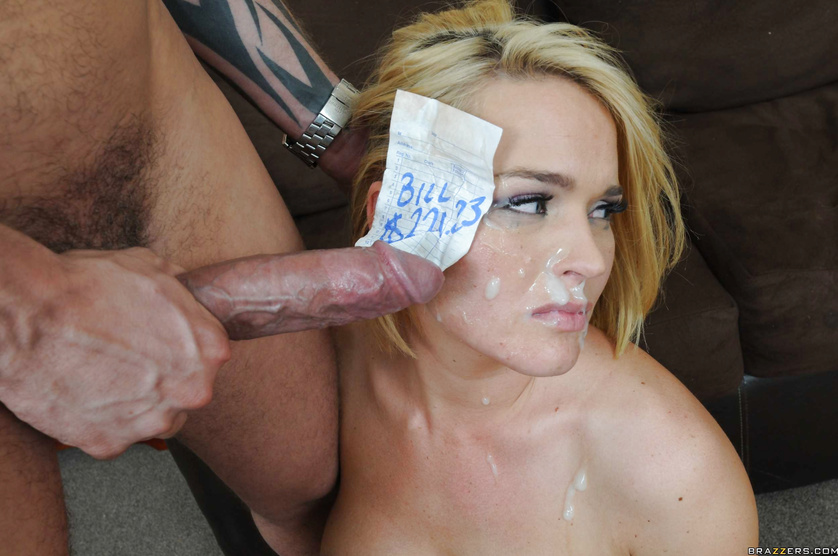 Short-haired blonde gets blackmailed and butt-fucked because of Bill