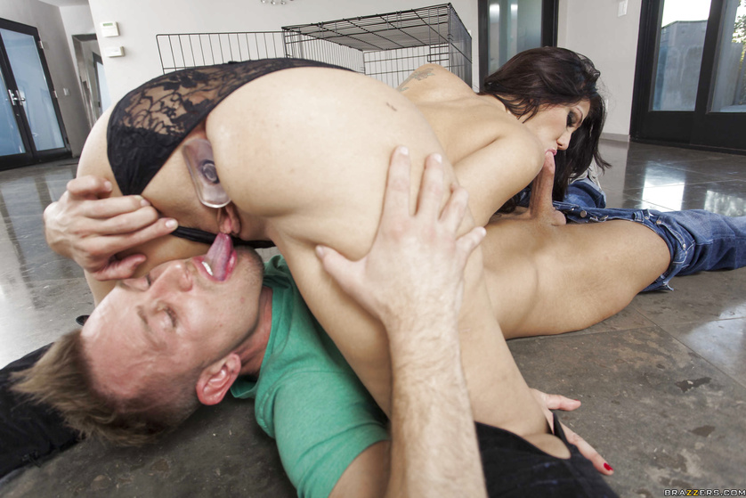 Caged brunette sex slave offers anal in exchange for freedom