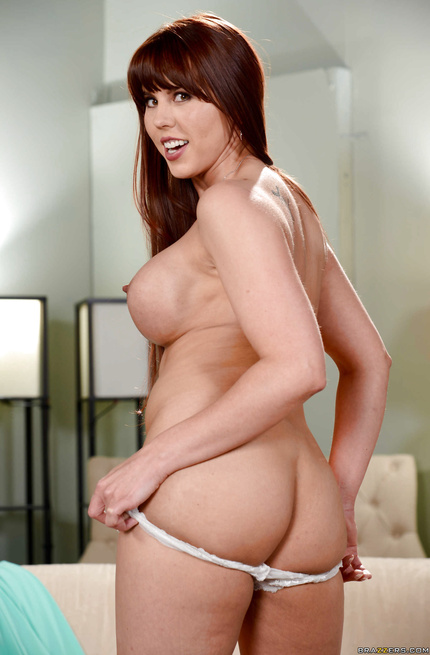 Redhead with bangs wants to try fucking two guys at once