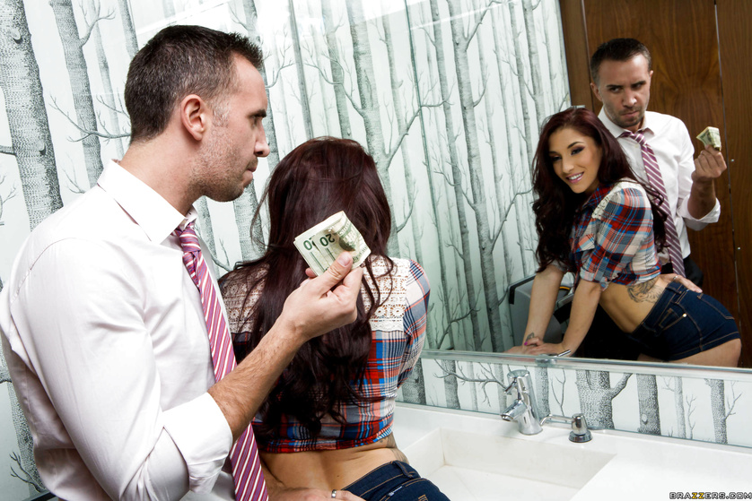 Teen redhead doesn't mind fucking a guy for some quick cash