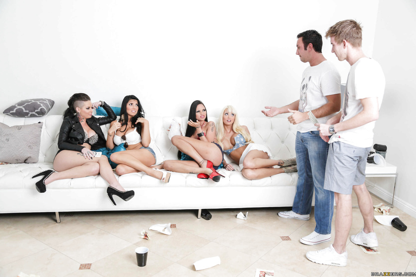 Stacked babes go all in on their party-like-a-pornstar motto