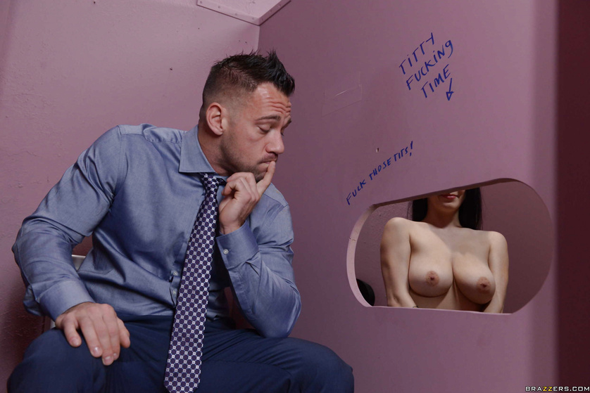 Noelle Easton gets curious about Titty Fucking Time graffiti