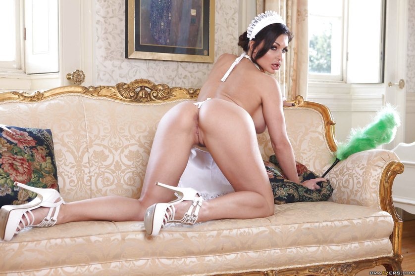 Sexual adventures of the gorgeous maid having big ass