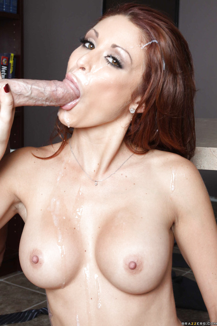 Stunning redhead asks him to lock the door and fuck her pussy