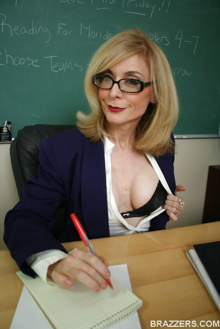 Mature Blonde Milf Glasses