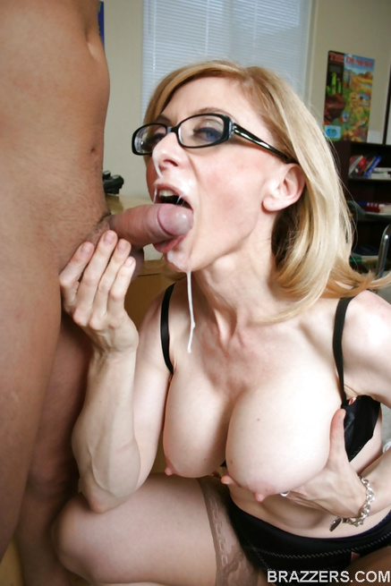 Blonde MILF teacher tries everything to get them to study