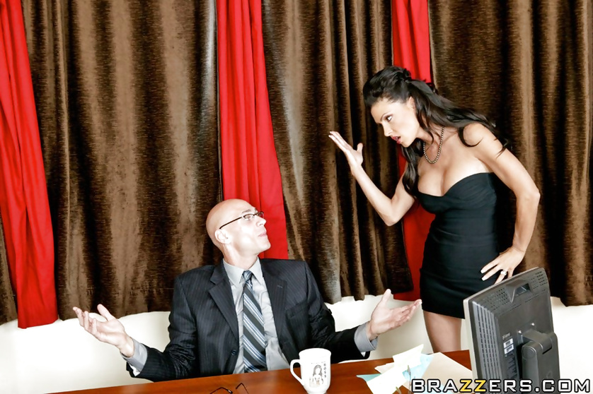 Sassy and classy brunette gets banged by a big-dicked dude