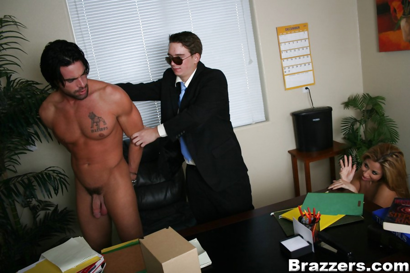 Dude gets locked up for fucking a hot blonde secretary in the office
