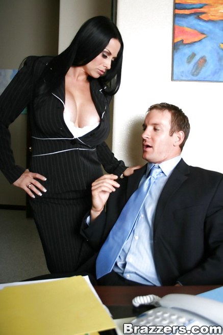 Chubby brunette with a fat ass riding a massive cock in the office