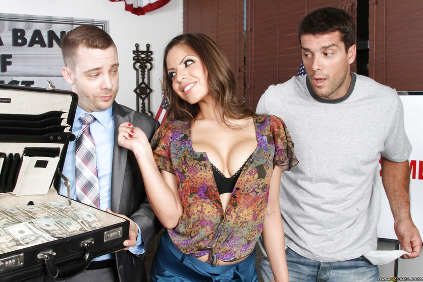 Yurizan Beltran shows up with a briefcase full of cash and gets fucked