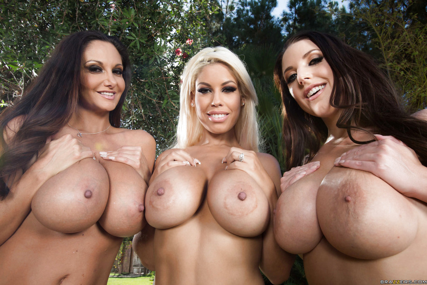 Bridgette B. and Ava Addams leave this big-dicked stud no choice