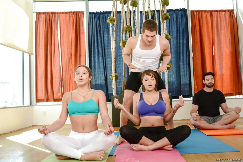 Cassidy Banks and Abella Danger actually make yoga seem exciting