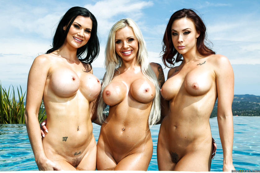 Perfect POV experience with three sex-starved and busty babes
