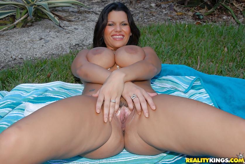 Licking and penetrating sweet holes of sensational Latina woman