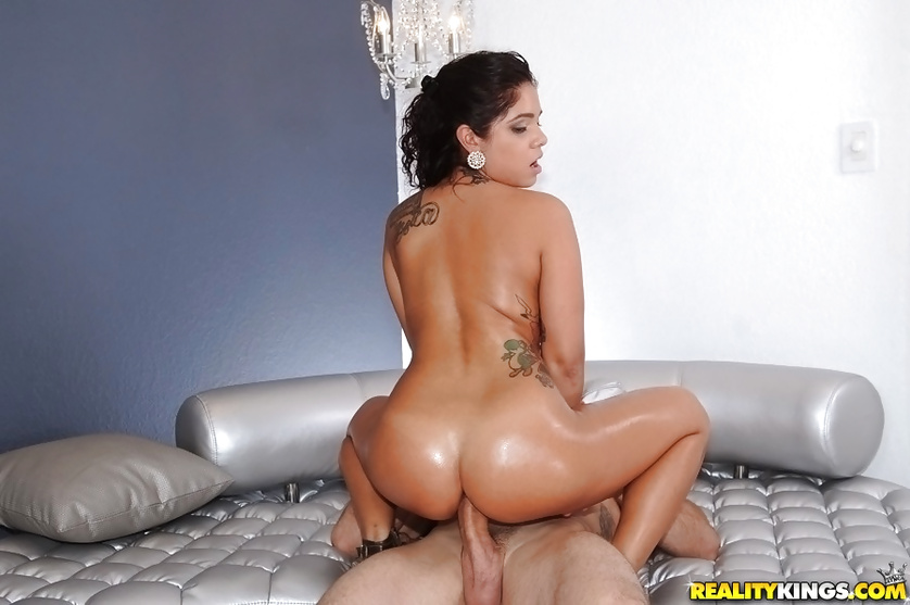 Filthy young chick is getting oiled and fucked with great excitement