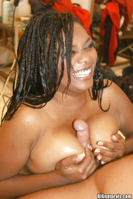 Ebony MILF has her fat twat drilled hardcore with a big dick