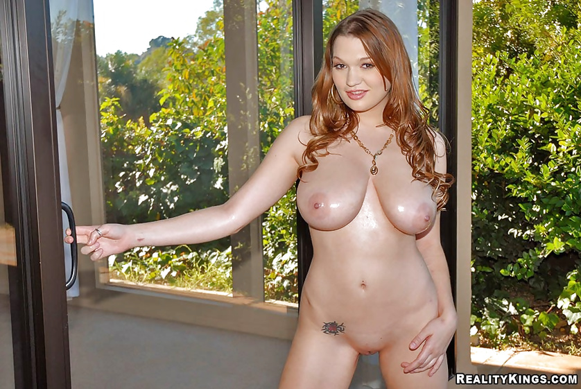 Extremely beautiful model is touching cock with pleasure