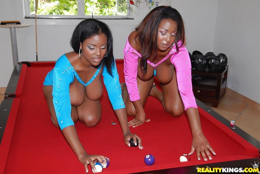 Fantastic ebony ladies are enjoying passionate fuck session