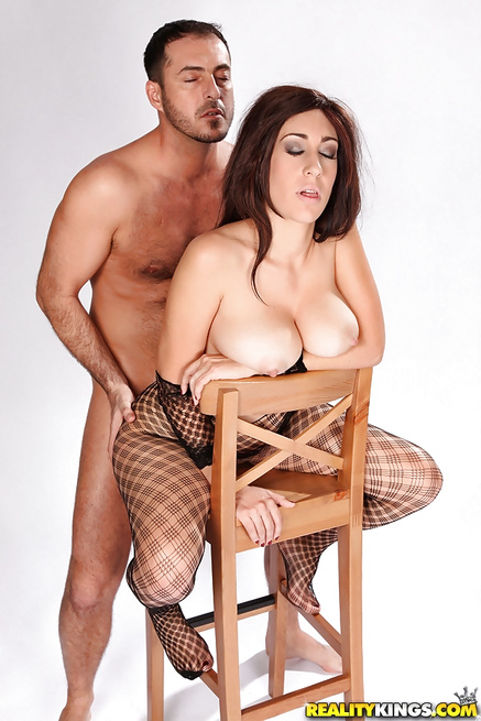 He loves fucking sexy babes wearing cool fishnet