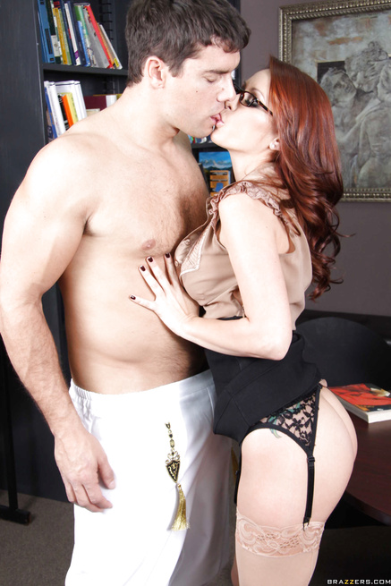 Hung marching band geek gets to fuck a sexy redhead librarian