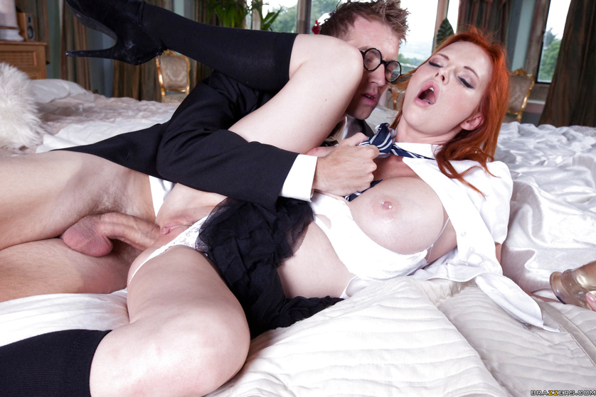 Big-dicked boy wizard fucks his redheaded friend with his wand