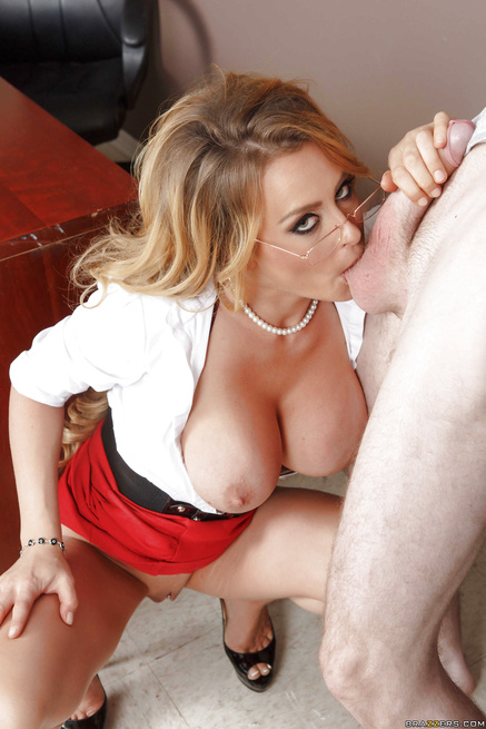 Gorgeous teacher in the sexy red skirt gets punished hard