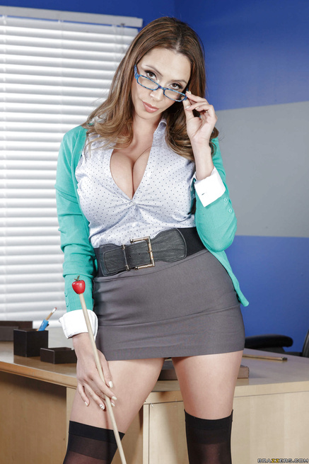 Shameless teacher in blue lingerie wants to feel orgasm