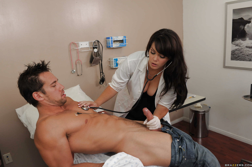 Thick MILF doctor working on her patient's sexual stamina