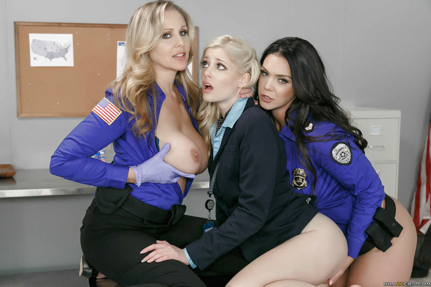 Airport security hotties abuse their power and fuck a beautiful blonde