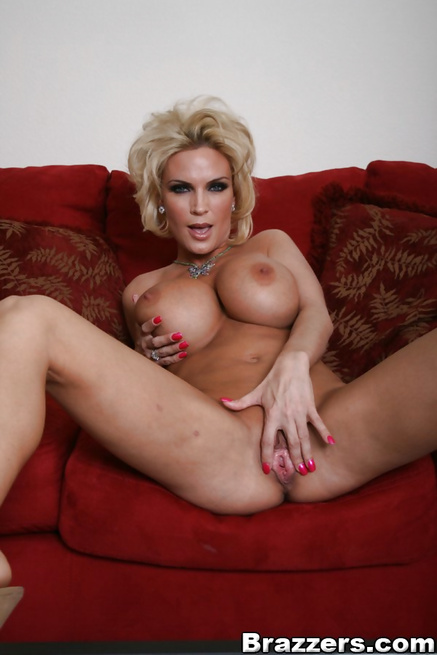 Blonde MILF is sucking and riding her man's boner on the stairs