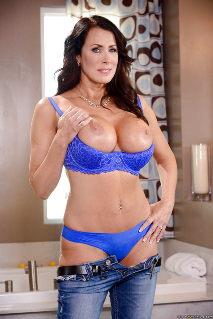 Blonde Milf Blue Lingerie