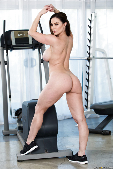 Two thick gym-going brunettes seduced by a twiggy-looking dude