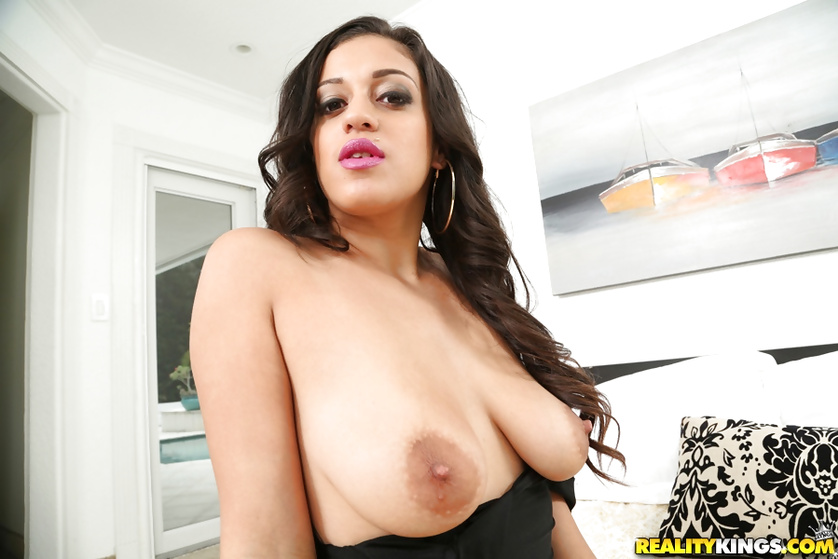 These big natural tits must be covered with warm cum