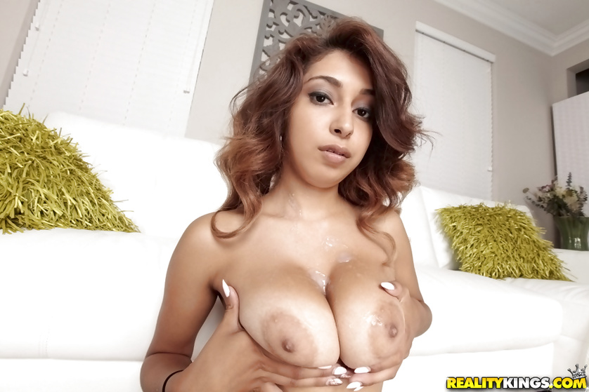 Kinky woman having curly hair loves playing with a strong penis