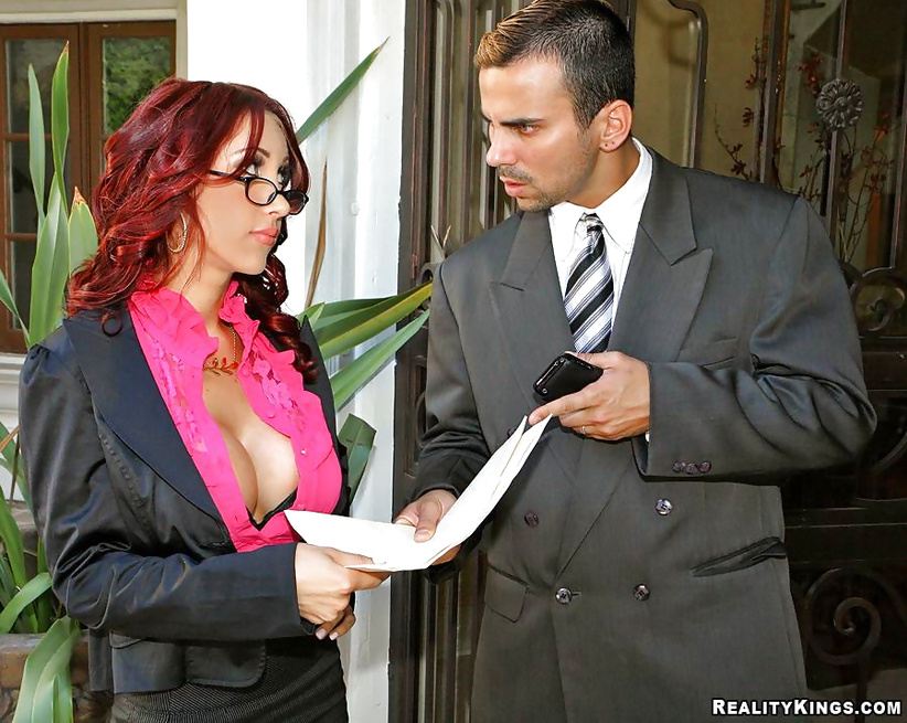 MILF redhead has her shaved cunt drilled hardcore in various poses