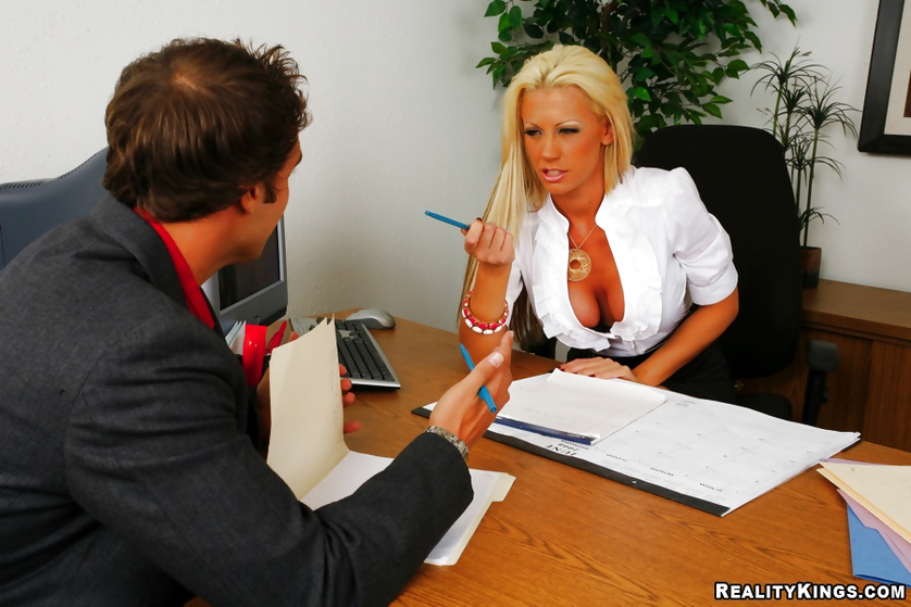 Close up office fuck with an astonishing chick and her boss