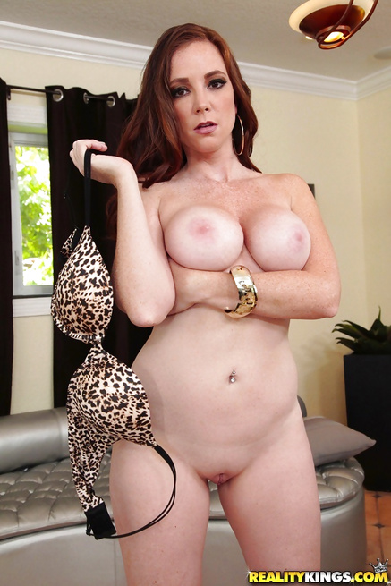 Tanned redhead Jessica Rayne has her MILF pussy penetrated